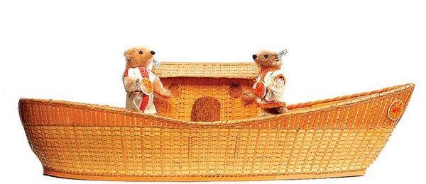 1: Steiff Noah's Ark with Mr & Mrs Noah Set