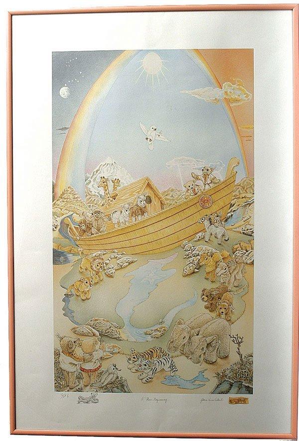 """13: Steiff Noah's Ark """"A New Beginning"""" Print"""