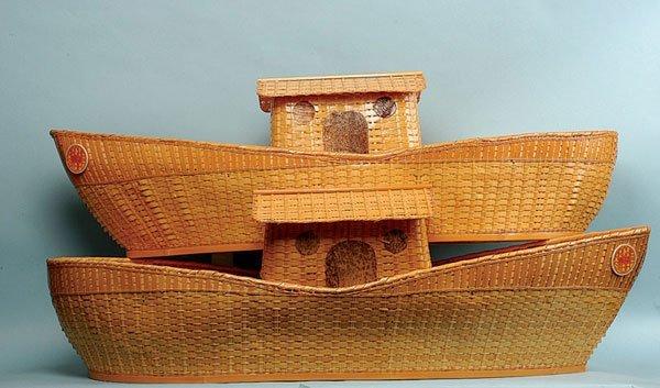 14: Steiff Noah's Ark - two wicker Arks