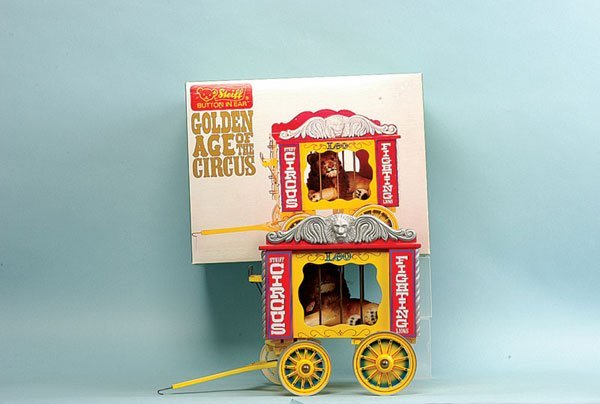 16: Steiff Circus Series Lion in Cage Wagon