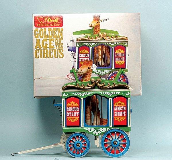 17: Steiff Circus Series Wagon with Giraffe