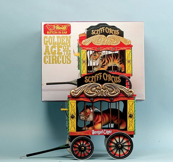 18: Steiff Circus Series Wagon with Tiger