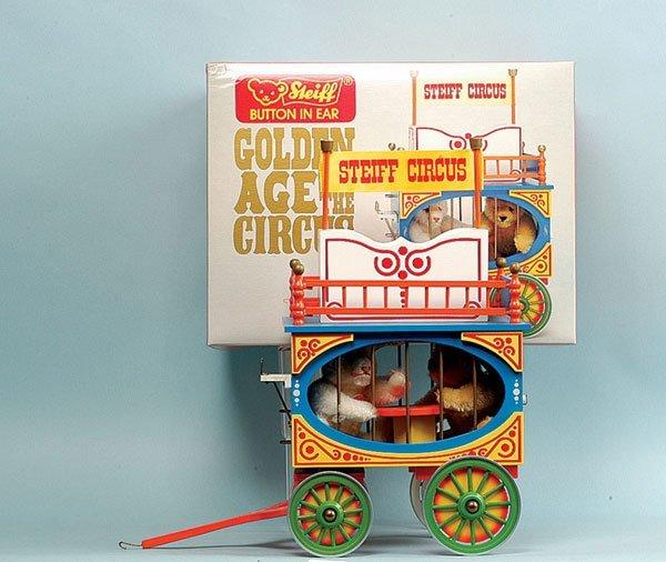 19: Steiff Circus Series Wagon with Bears
