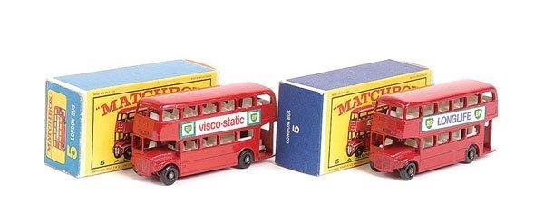 1008: Matchbox - 2 x No.5d London Routemaster Bus