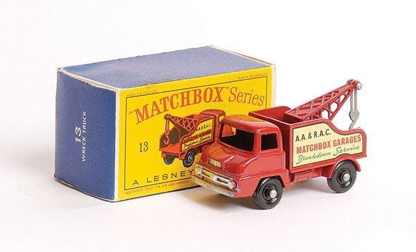 1023: Matchbox No.13c Ford Thames Trader Wreck Truck