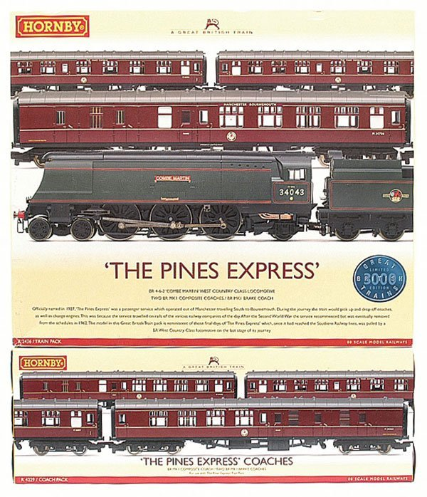 """4001: Hornby R2436 """"The Pines Express"""" Train Pack"""