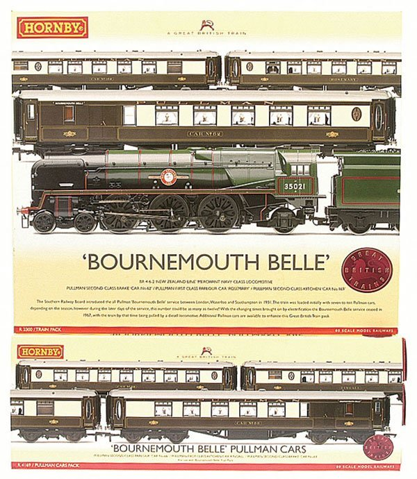 """4002: Hornby R2300 """"Bournemouth Belle"""" Train Pack"""