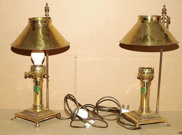 4375: Brass Reproduction Orient Express Table Lamps