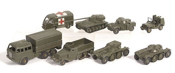 11: French Dinky Unboxed Military Vehicles