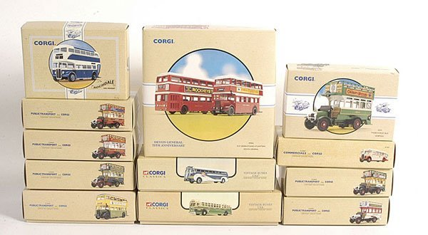 22: Corgi Classics - An Assorted Group of Buses