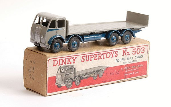 1077: Dinky No.503 Foden Flat Truck with Tailboard