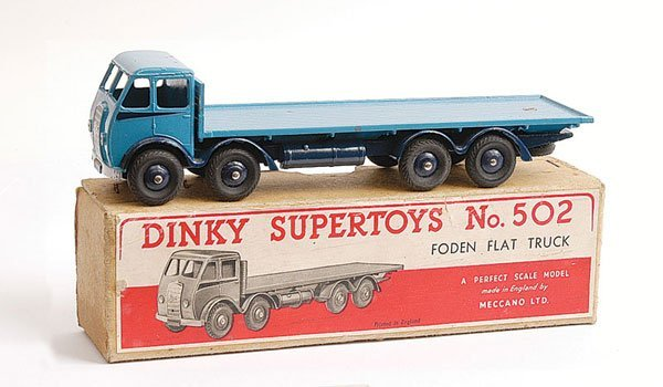 1106: Dinky No.502 1st Cab Foden Flat Truck
