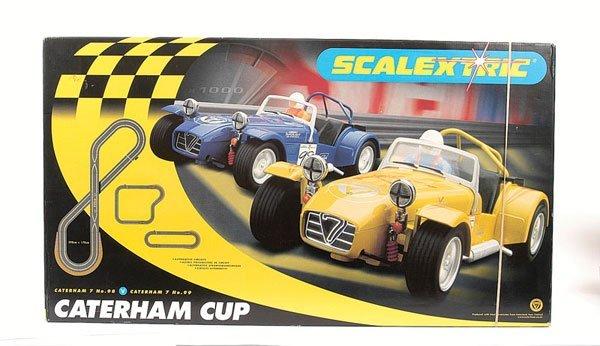 """2526: Scalextric No.C1034 """"Caterham Cup"""" Set"""