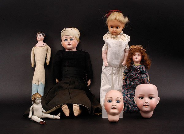 3: Quantity of Bisque, wax and Composition Dolls