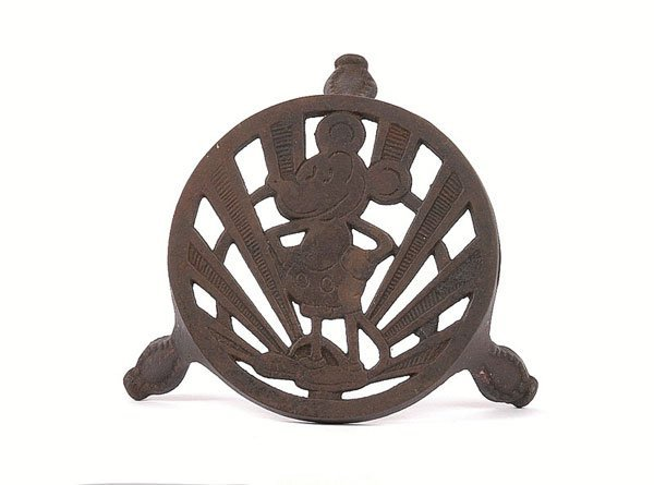 704: Cast iron Mickey Mouse Teapot Stand