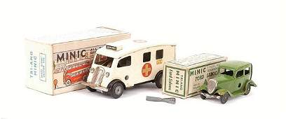 799: Triang Minic Ambulance and Ford Saloon