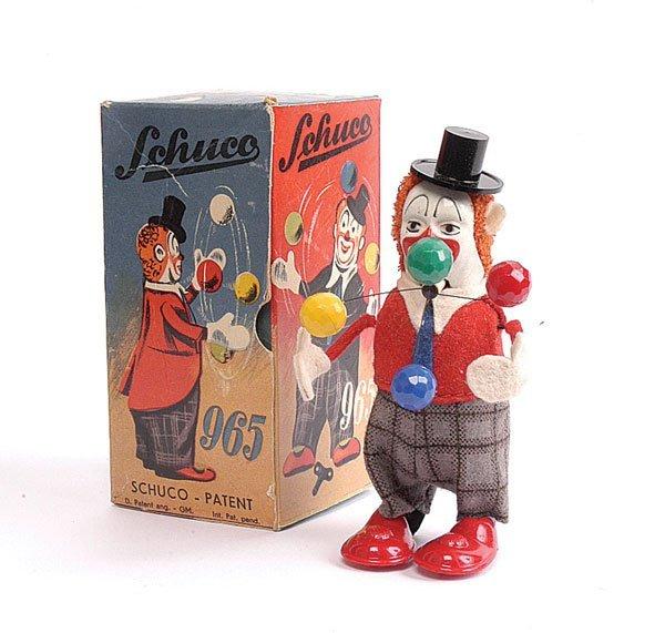 1002: Schuco - 965 - Clockwork Clown Juggler
