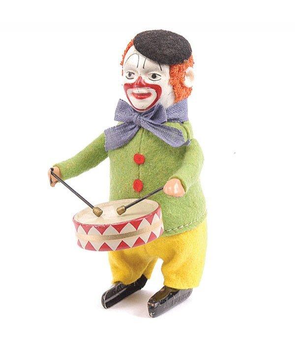 1003: Schuco - 986/1 - Clockwork Clown Drummer