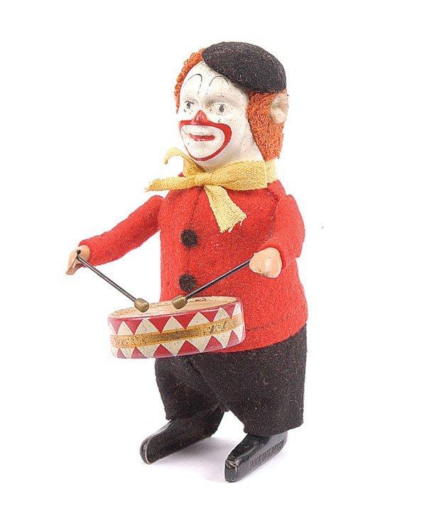1004: Schuco - 986/1 - Clockwork Clown Drummer