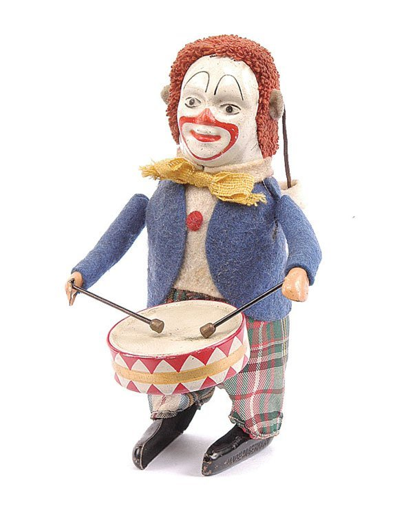 1005: Schuco - 986/1 - Clockwork Clown Drummer