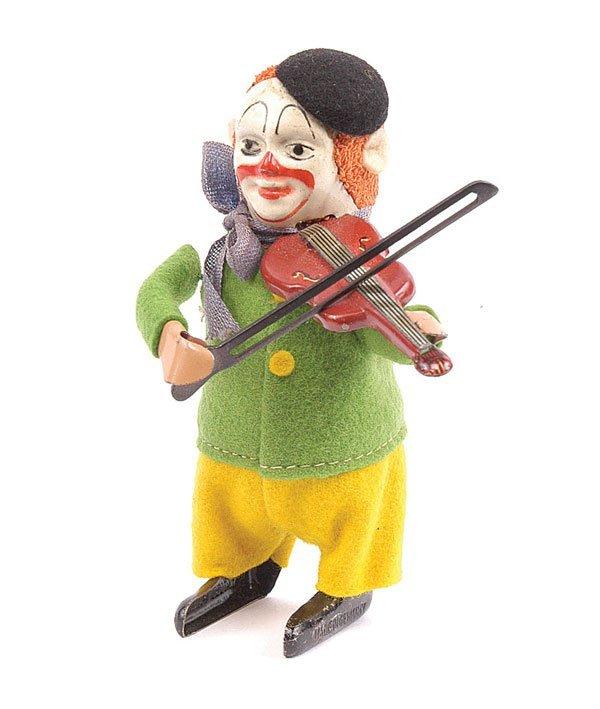 1007: Schuco - 986/2 - Clockwork Clown Violinist