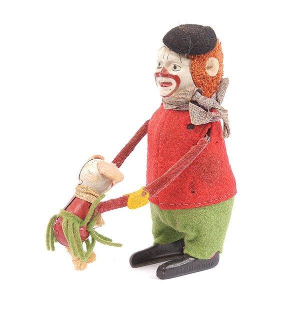 1009: Schuco - 988 Clockwork Clown with Dancing Mouse