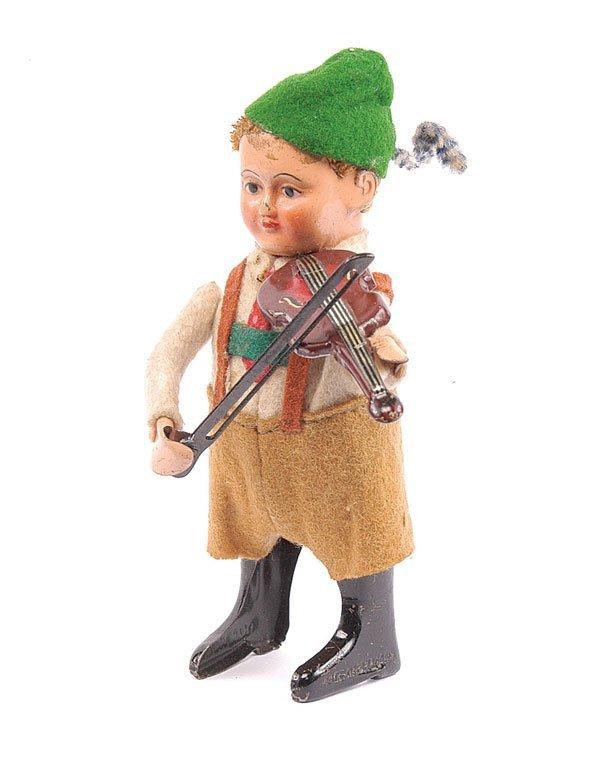 1013: Schuco 982/6 Clockwork Bavarian Boy Violinist