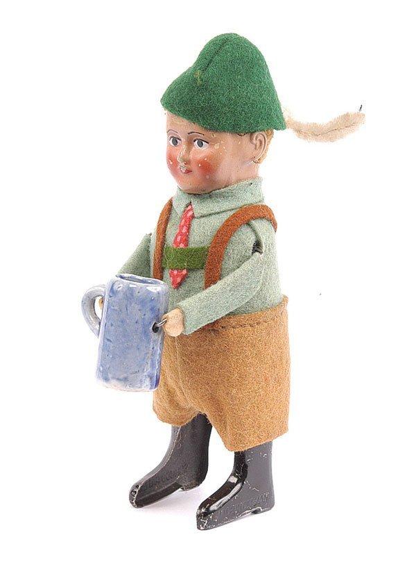 1016: Schuco  982/6 Clockwork Bavarian Boy with Stein