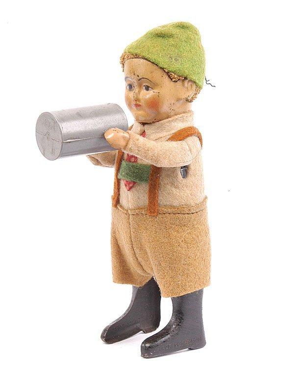 1017: Schuco 982/6 Clockwork Bavarian Boy with Stein