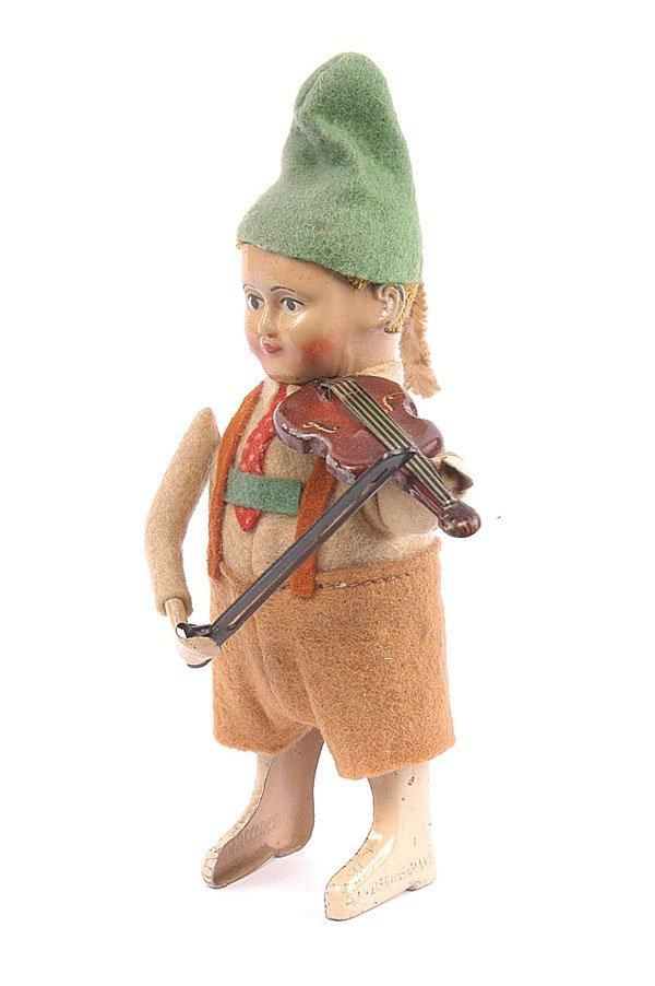 1019: Schuco - 982/2 Clockwork Bavarian Boy Violinist