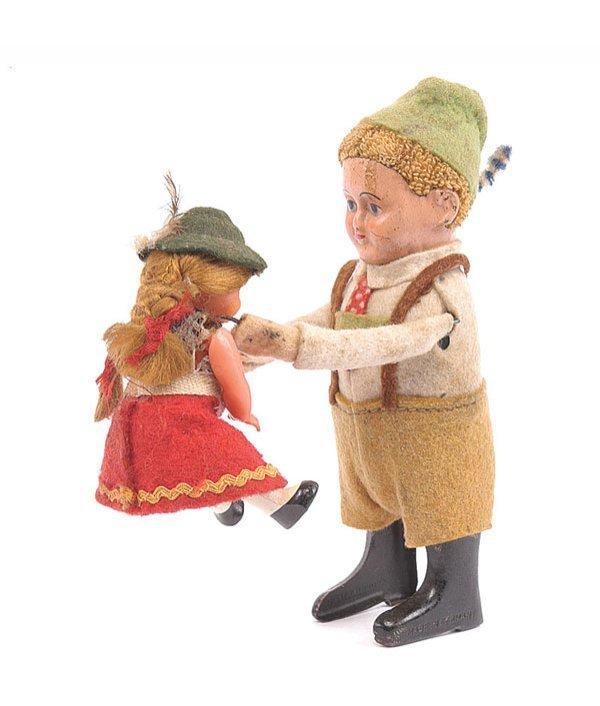 1021: Schuco - 973 Clockwork Bavarian Dancing Couple