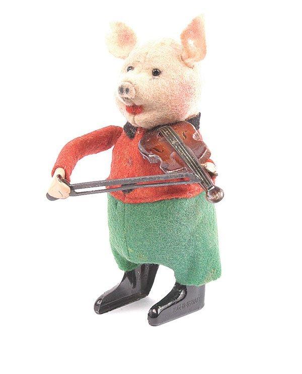 1023: Schuco - 980/2 - Clockwork Pig Violinist