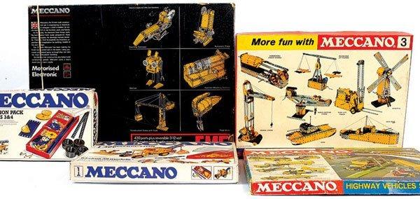 4002: Meccano - 5 x Late 1970s Sets