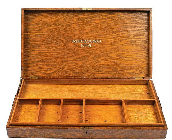 4023: Meccano Pre-war Outfit No.6 Wooden Empty Box