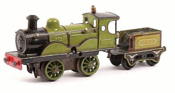 4649: Marklin 0-4-0 Loco and Tender LSWR Green