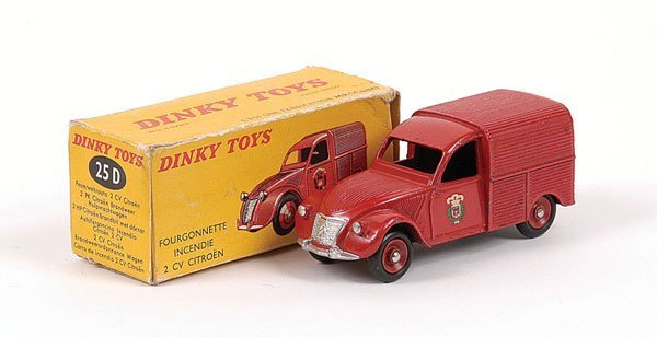 1007: French Dinky No.25D Citroen 2CV Fire Service Van