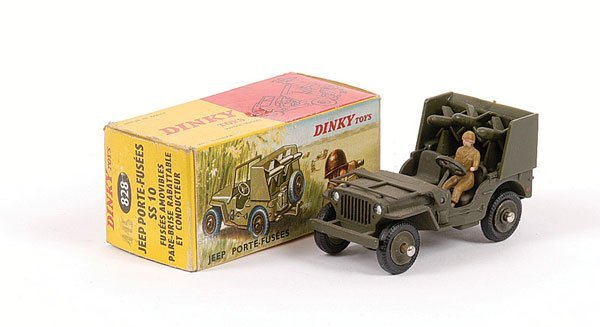 1024: French Dinky No.828 Jeep with Rocket Launcher
