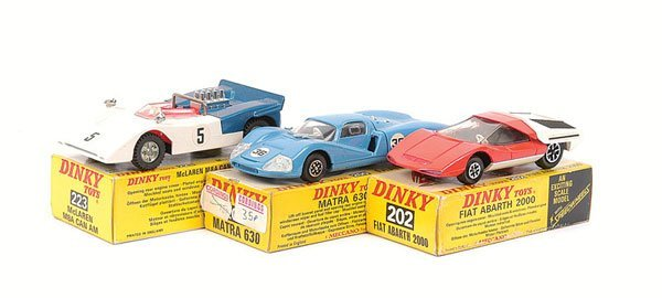 2001: Dinky - a group of Racing Cars.