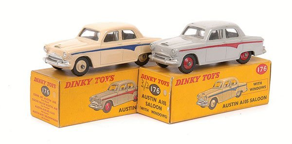 2008: Dinky - a pair of No.176 Austin A105 Saloon.