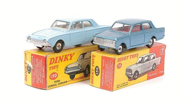 2012: Dinky - Vauxhall and Ford Cars.