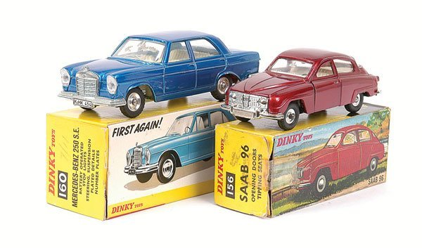 2013: Dinky - Saab and Mercedes Cars.