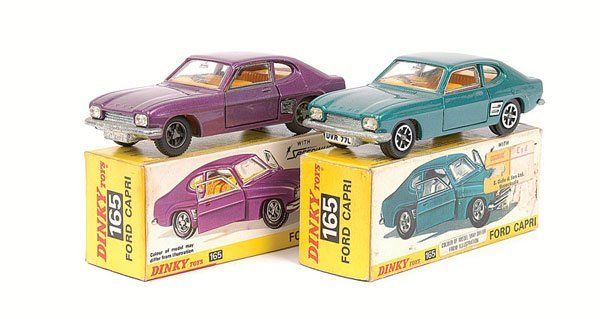 2014: Dinky - a pair of No.165 Ford Capri.