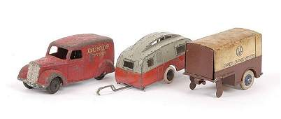 2422: Dinky - a group of pre-war Commercials.