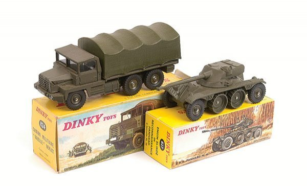 4: French Dinky Truck and Armoured Car