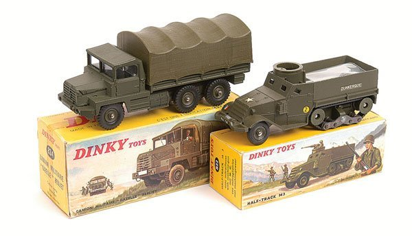 5: French Dinky Military Truck and Half Track