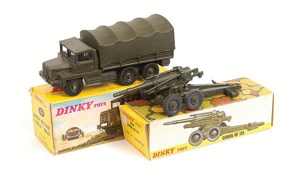 6: French Dinky Military Truck and Cannon