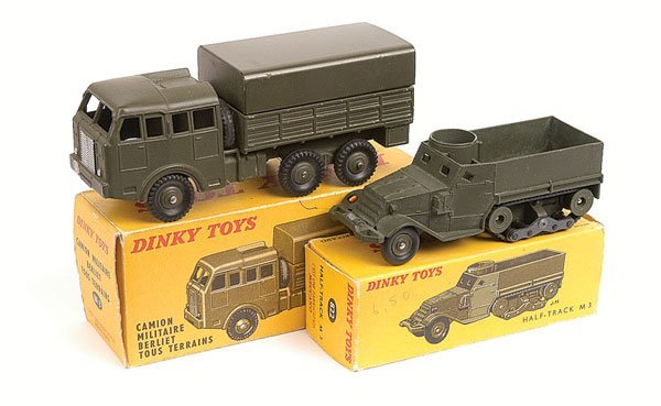 7: French Dinky Military Truck and Half Track