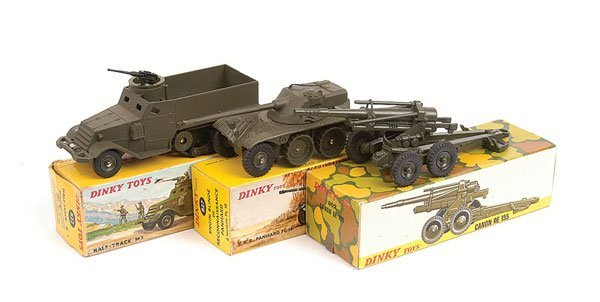 8: French Dinky - A Group of Military Vehicles