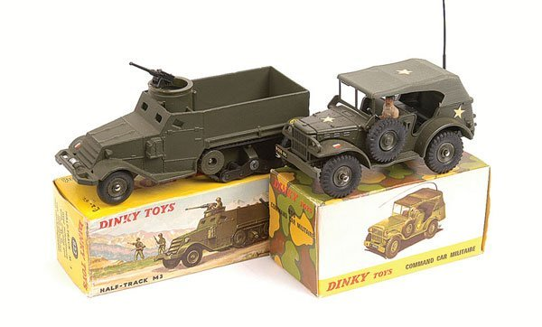 9: French Dinky Command Car and Half Track
