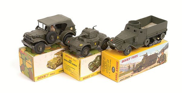 10: French Dinky - A Group of Military Vehicles